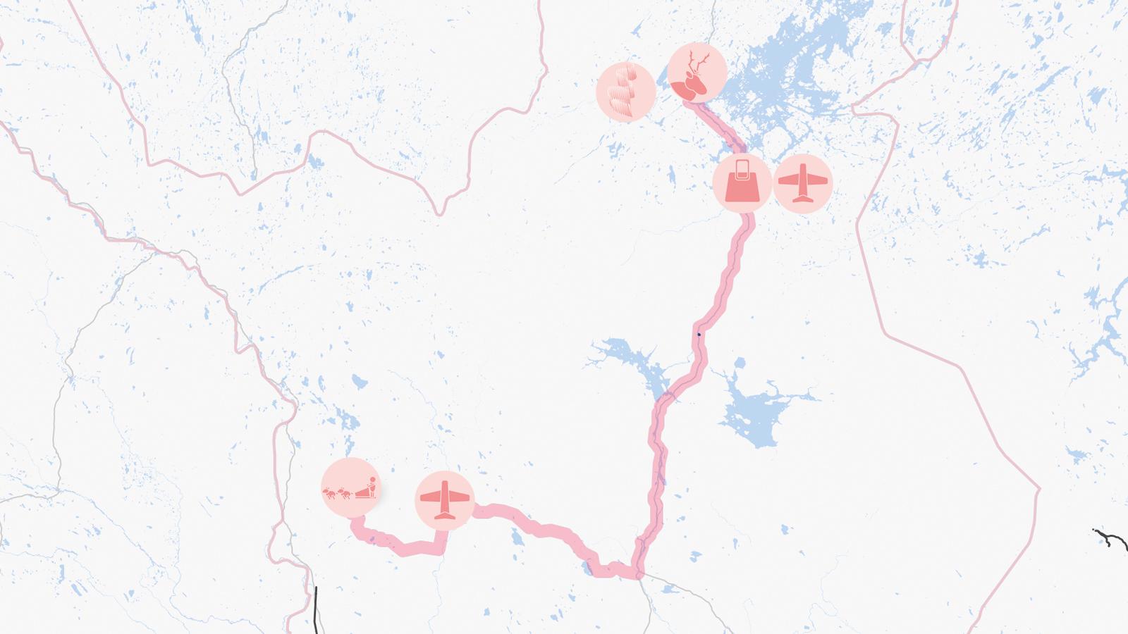 Inari - Ivalo - Kittilä - Äkäslompolo