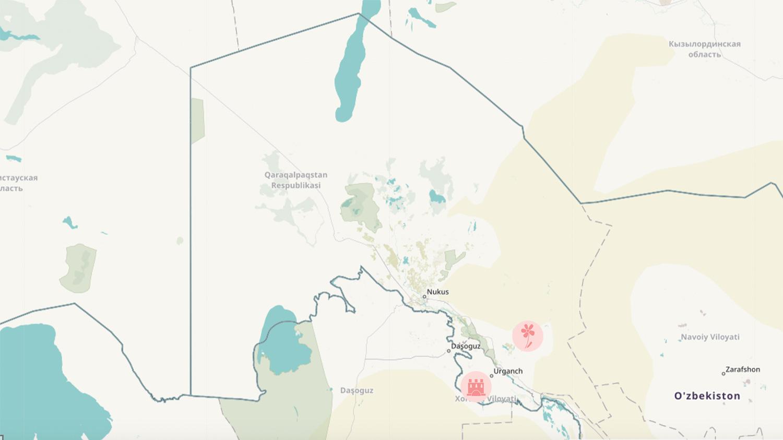 Khiva and Ayaz-Kala close to Urgench