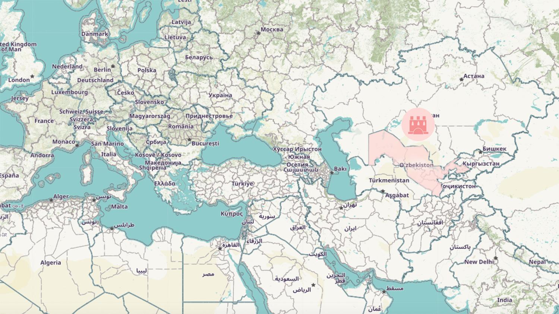 Here is Uzbekistan