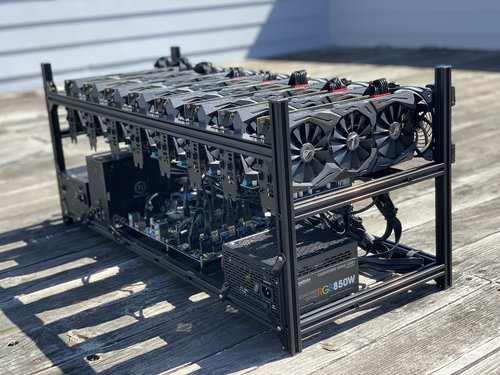 GPU Mining Rig - 8X RTX 2000 series - hardware designed for massive hashing  power - custom built & ready for many Altcoins