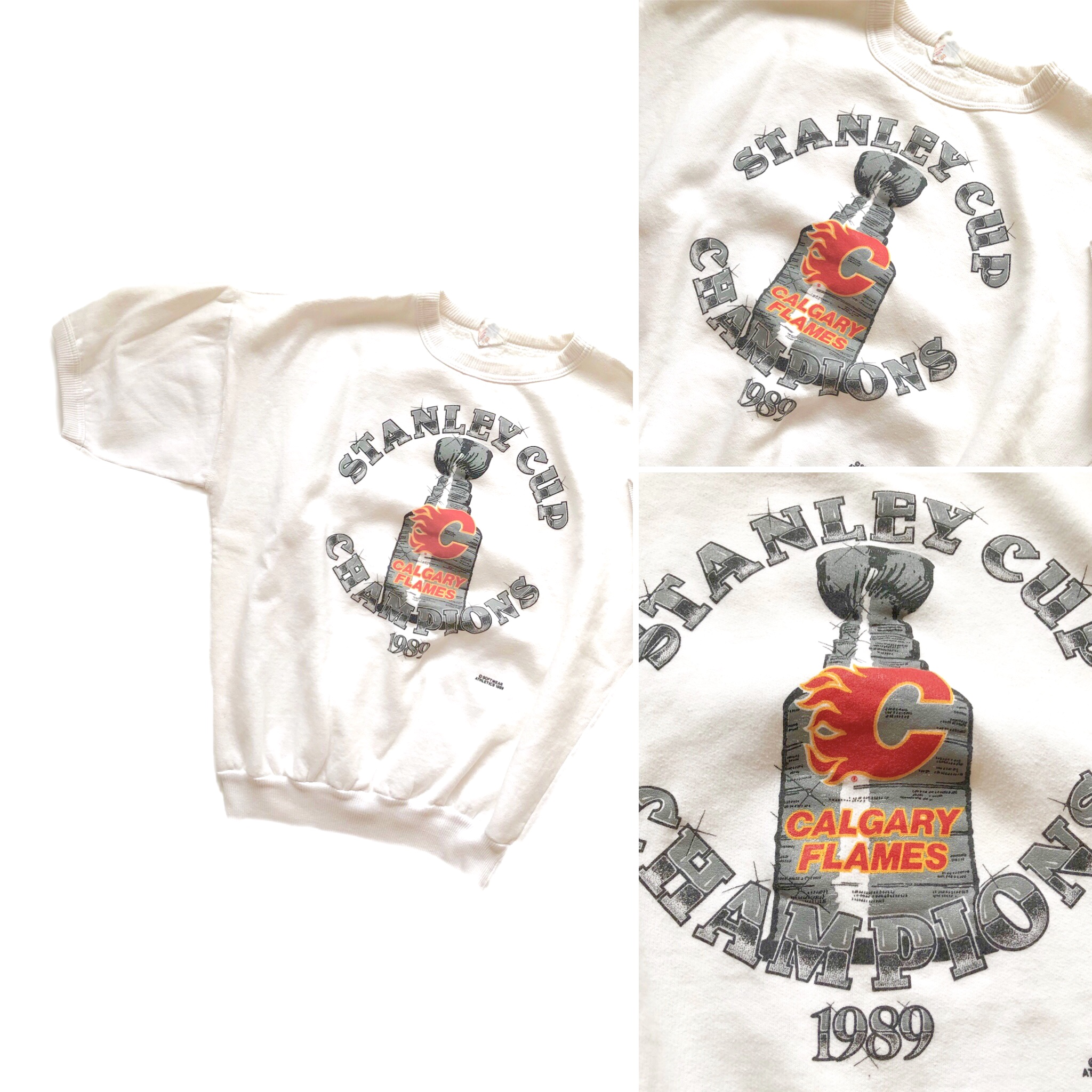 sneakers for cheap 1f362 87d91 Vintage Calgary Flames 1989 Champions Sweatshirt