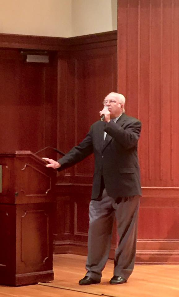 Board President Jerry Kalstein gives an opera talk at The College of New Jersey