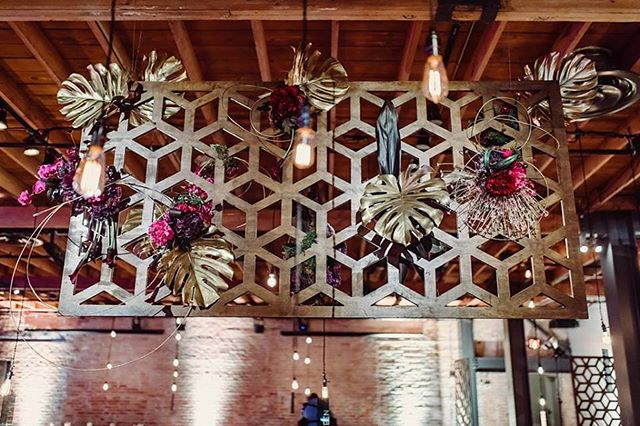 We love the floral that @florafetish added to our new wooden screens for the @ileaaustin gala! What kind of event could you use these wooden room dividers for? They can stand up on their own or hang them like we did here.