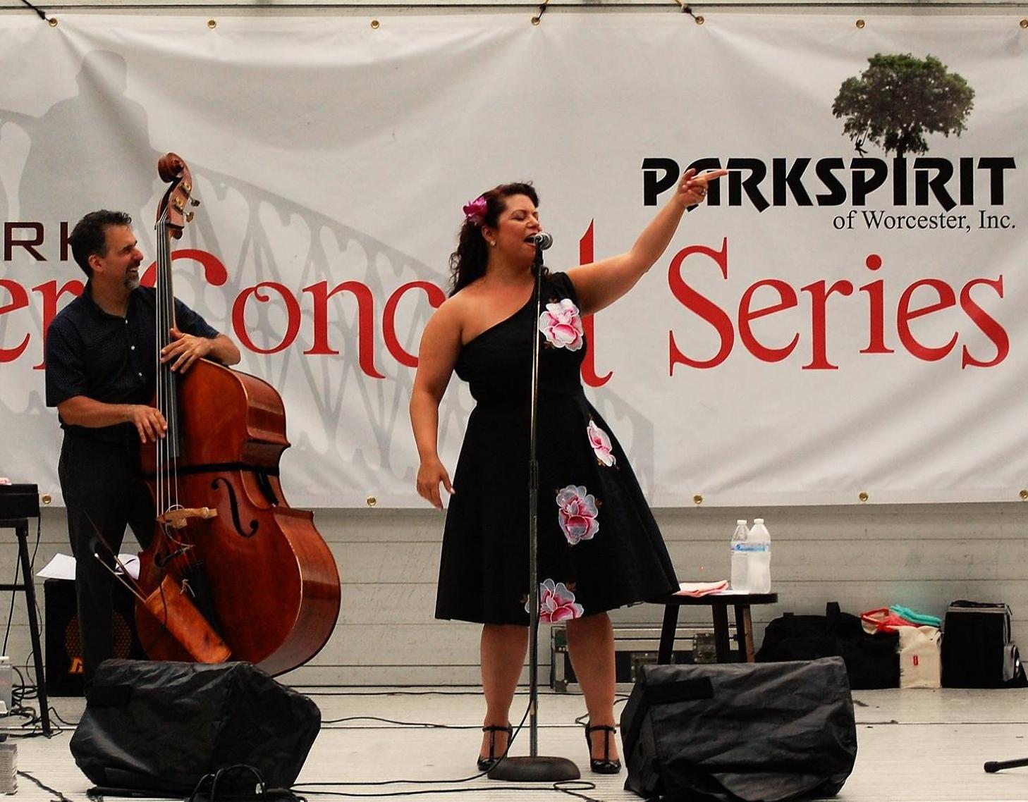 Jen Antkowiak performs at Elm Park on Thursday, July 20th, 2017.