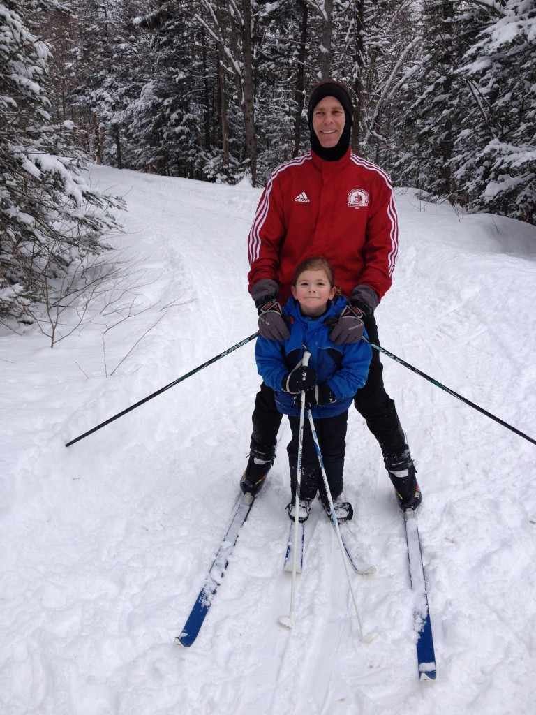 Phil Bolduc cross-country skiing at Newton Hill.