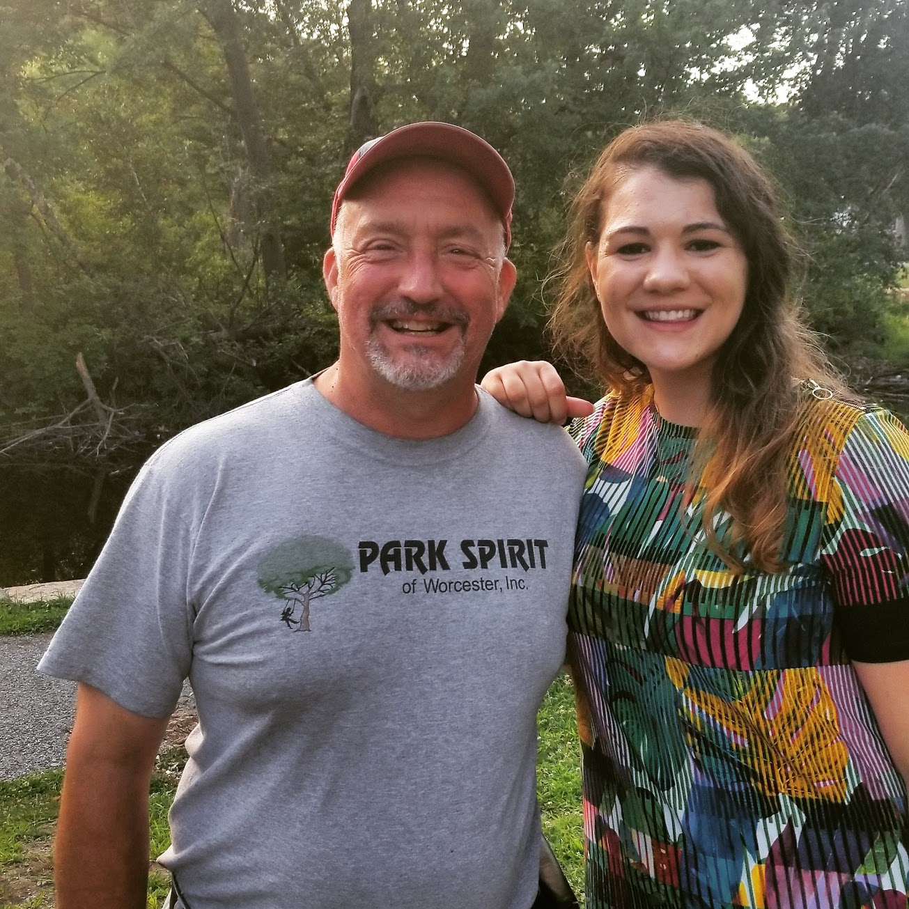 My dad and I at the Elm Park Summer Concert on July 12th, 2018