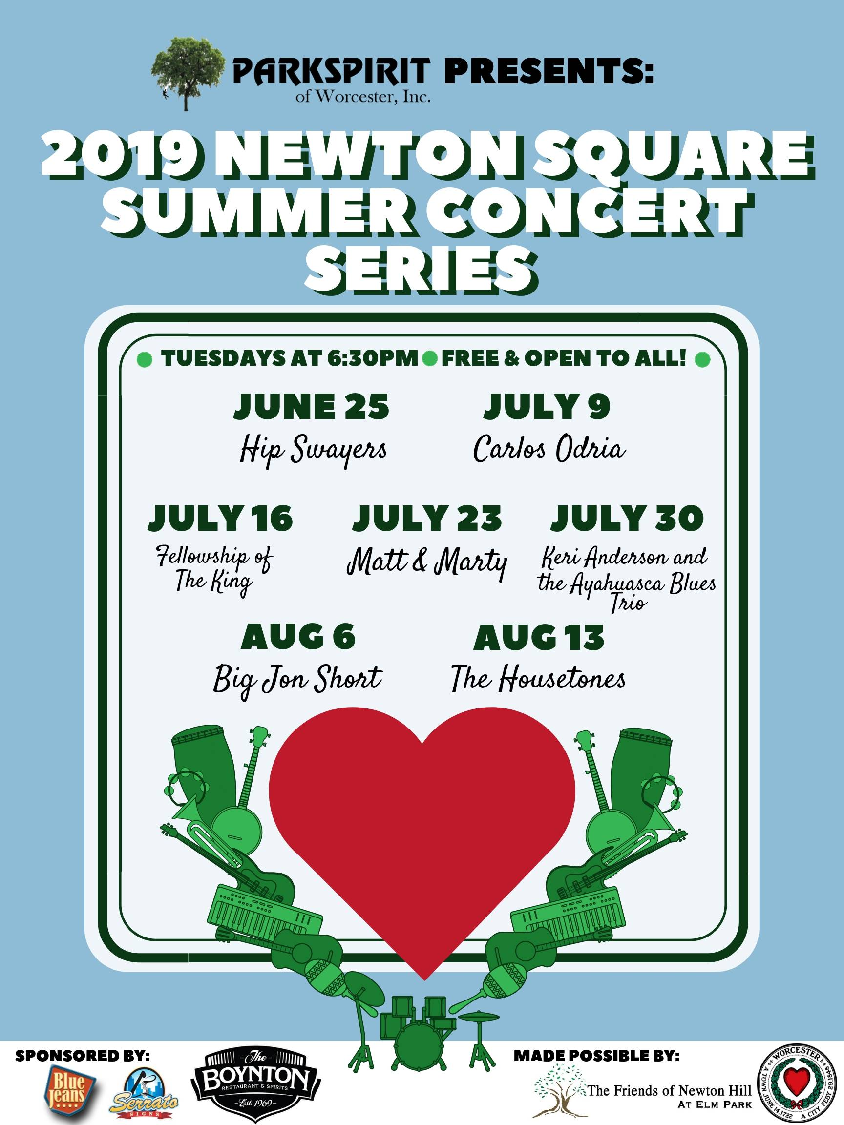 Join us at Newton Square this summer! -