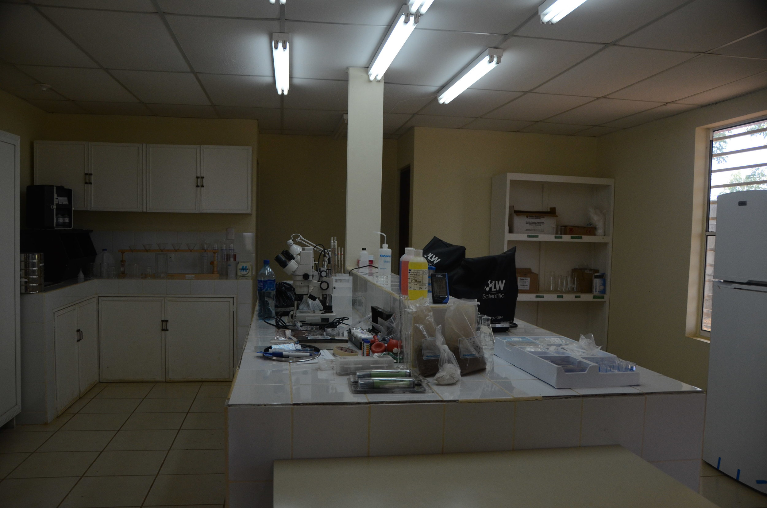 And lastly, this is the lab where the women are learning the science of essential oils, soaps, and lotions. I wish I would have taken more photos of the outside of the buildings, but you get the idea.