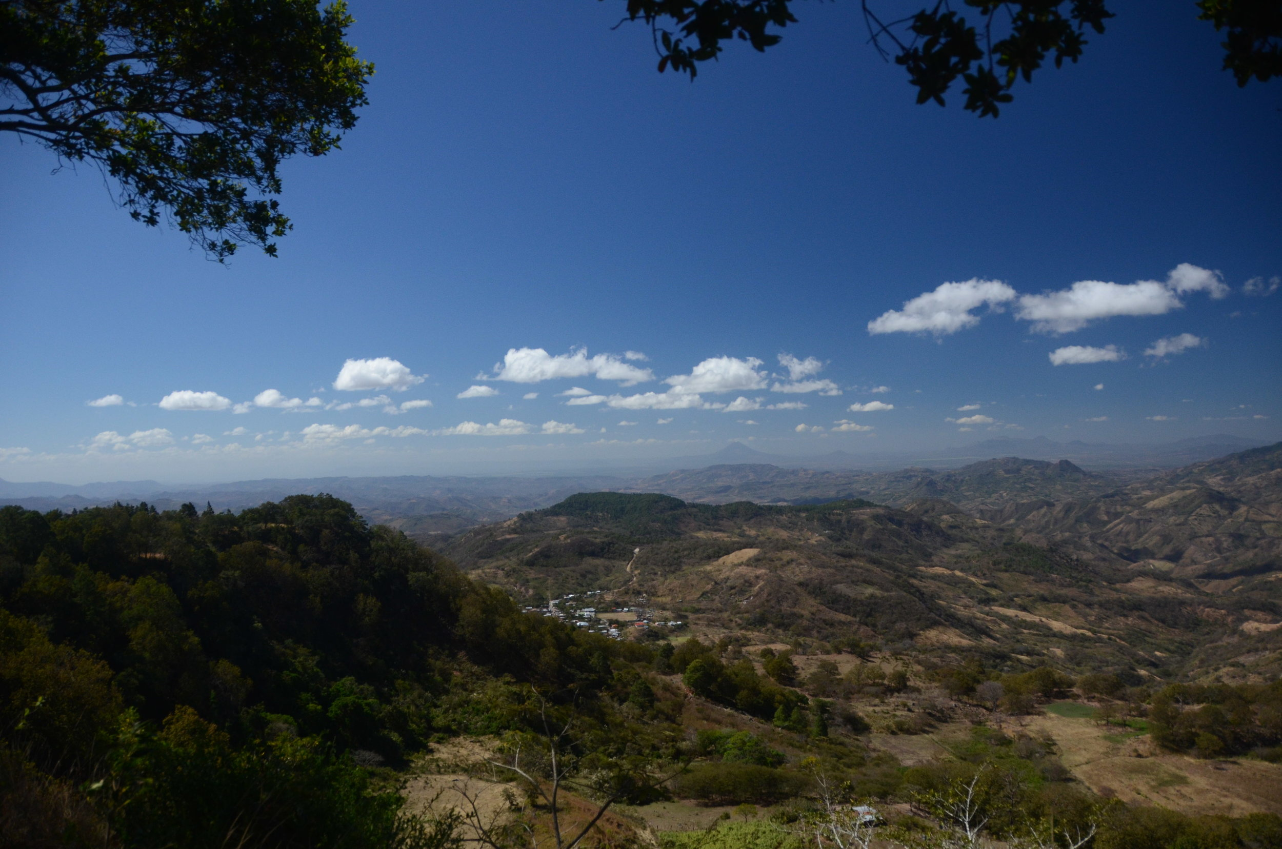 This is the beautiful overlook. Way off in the distance you can see the Masaya Volcano. We also went there today.