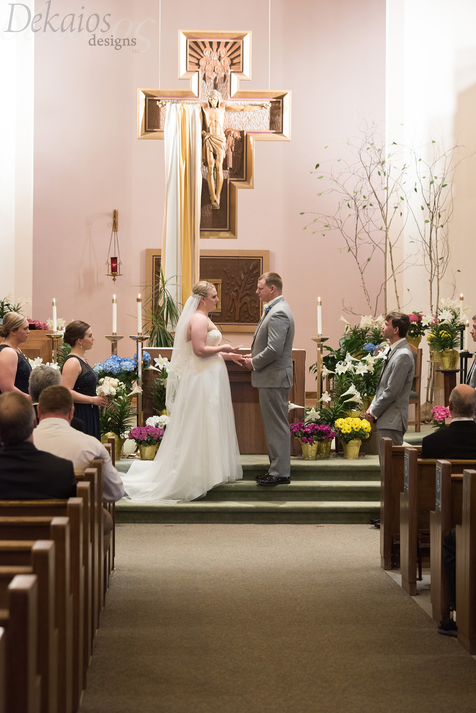 Taylor sharing her vows.