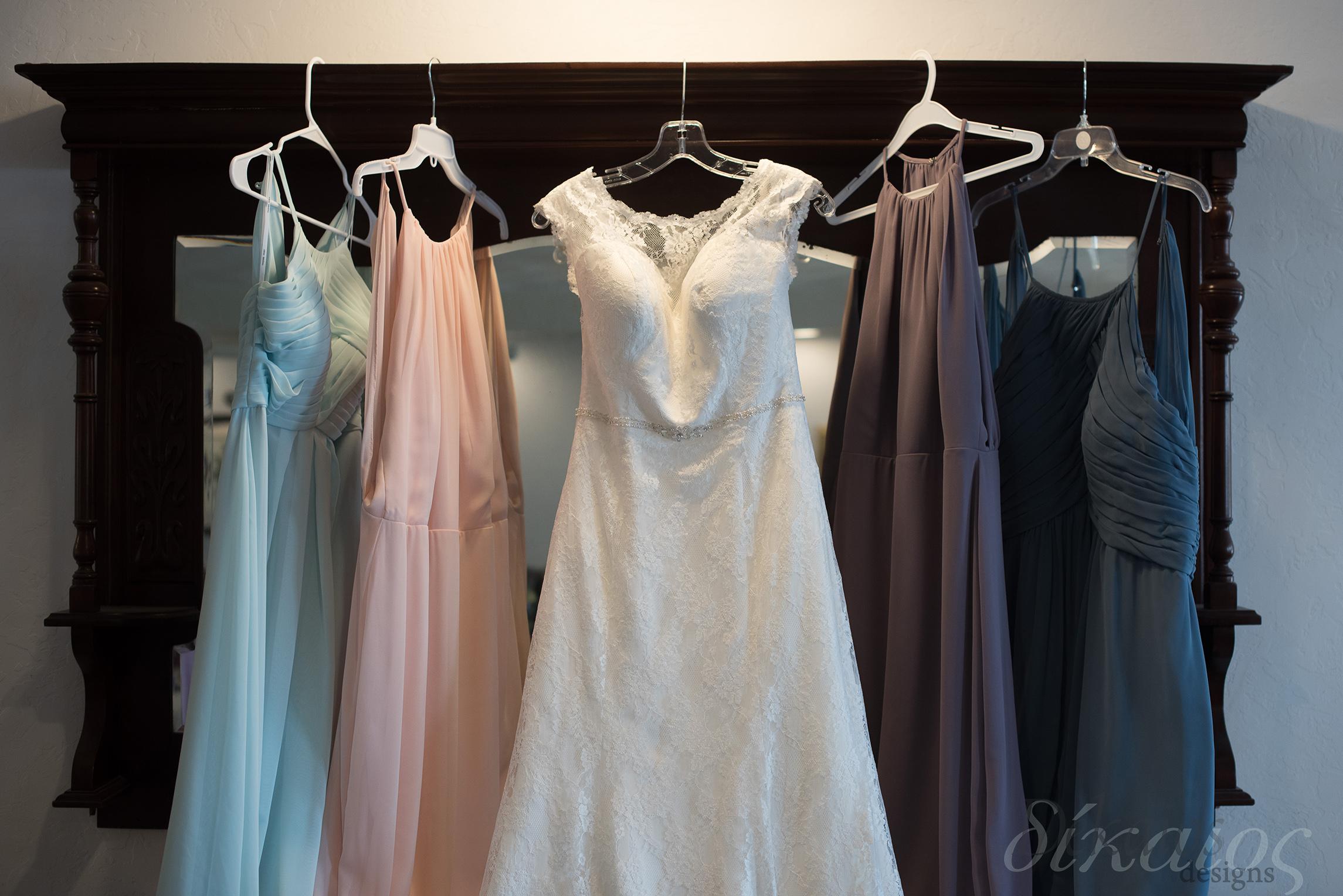 The girls dresses were so unique with such a wonderful color scheme.
