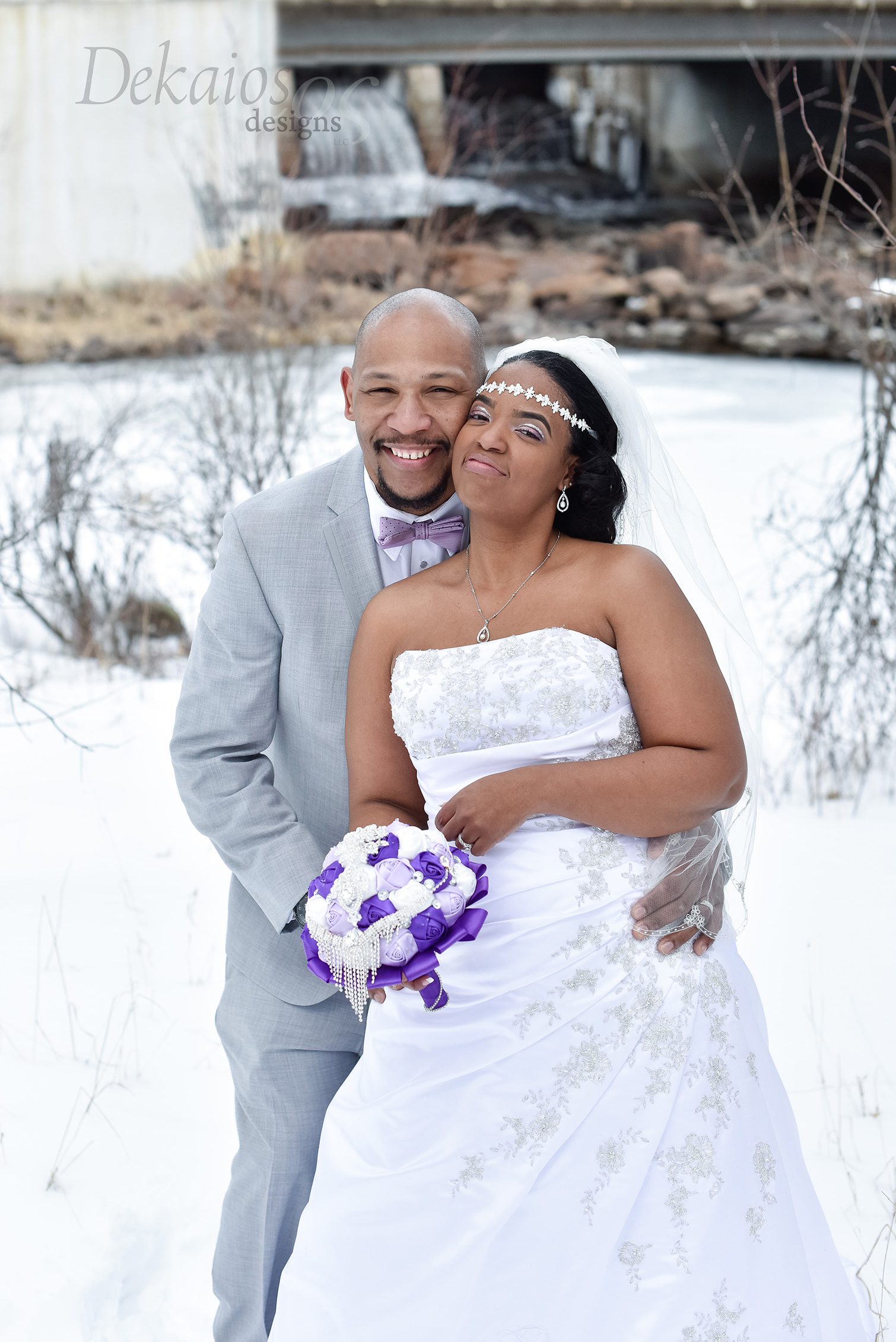 Nate and Reketa's snow filled wedding!