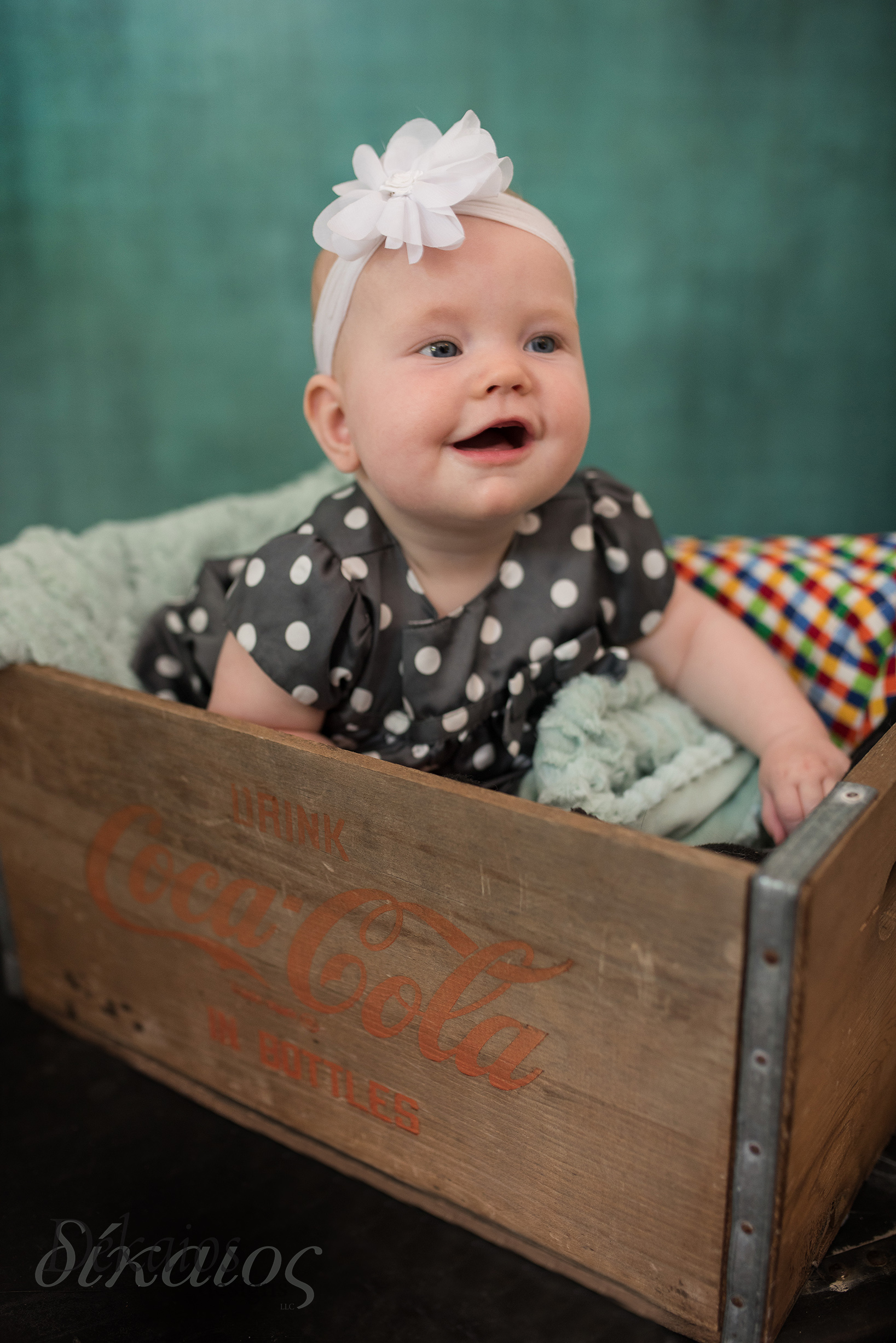 Baby Ginny who we photographed in January turned SIX months!