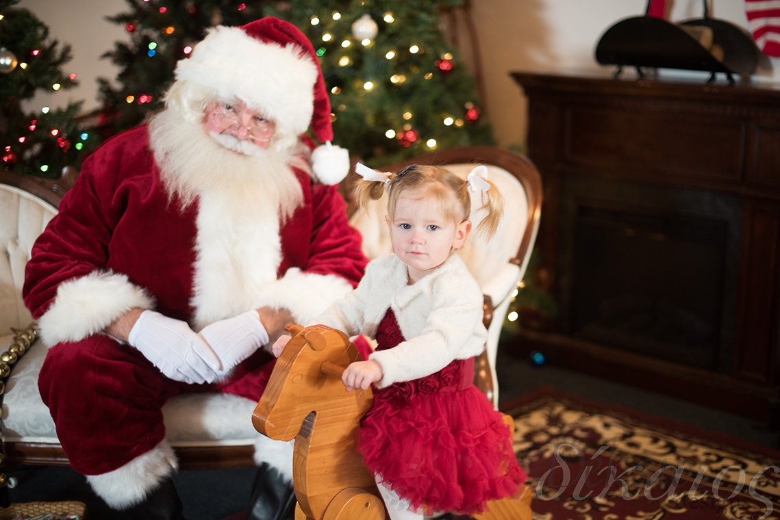 Santa the the Rose House, which is our new space, with sweet little Klaire.
