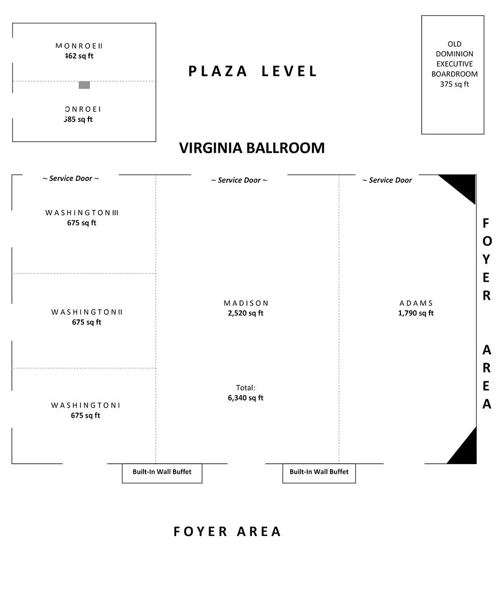 Hilton Crystal City Plaza Level.png