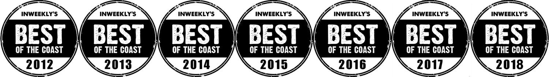 Pensacola Best of the Coast Photography Award Badges