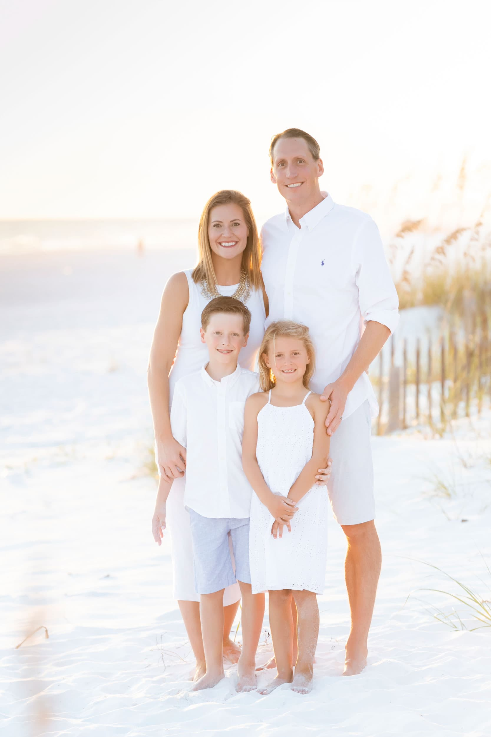 watercolor beach photographer captures image of vacationing family