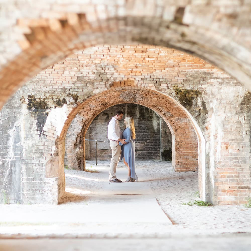 fort pickens photo of engaged couple