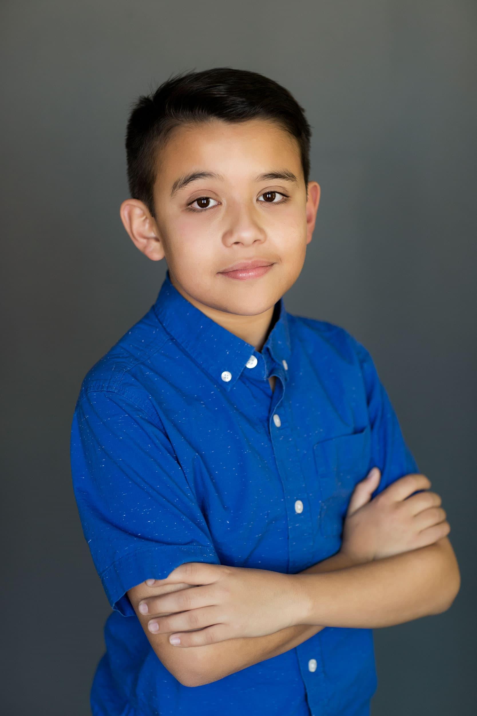 modeling portfolio photo of kid