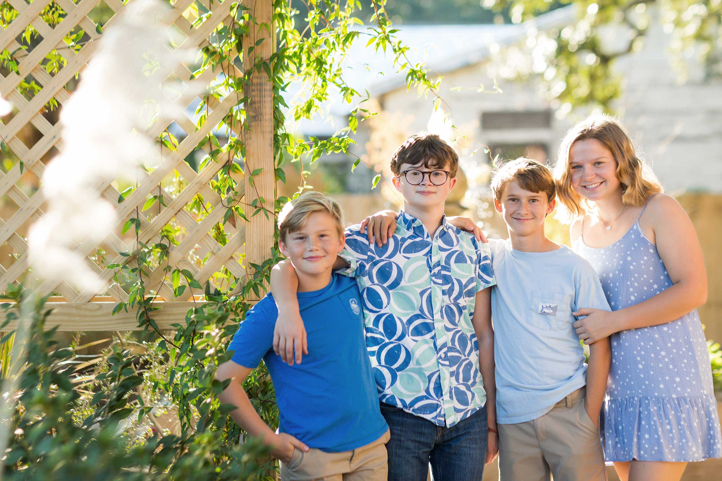 pensacola studio photography of family in garden