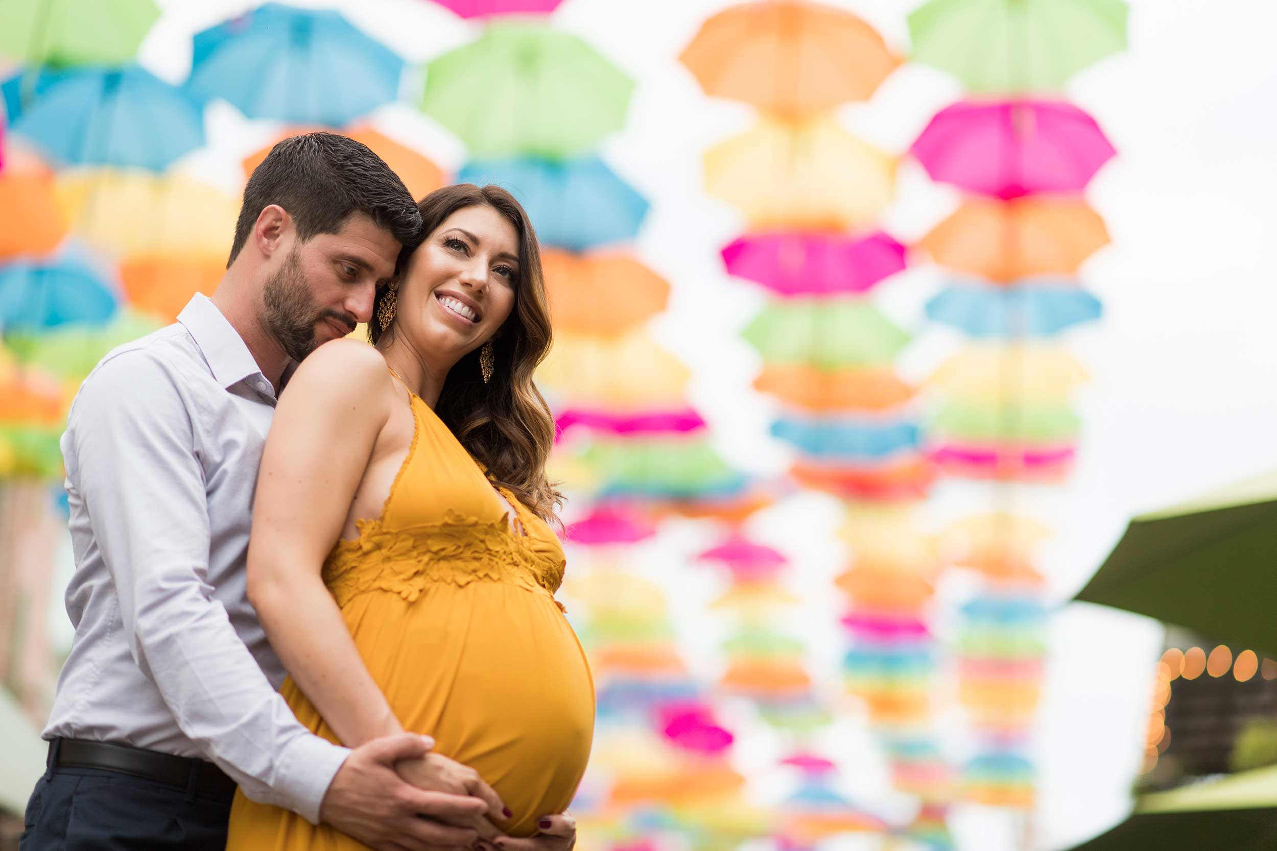 downtown pensacola palafox maternity mini session