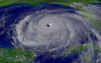 Hurricane Rita rampaging through the Gulf of Mexico