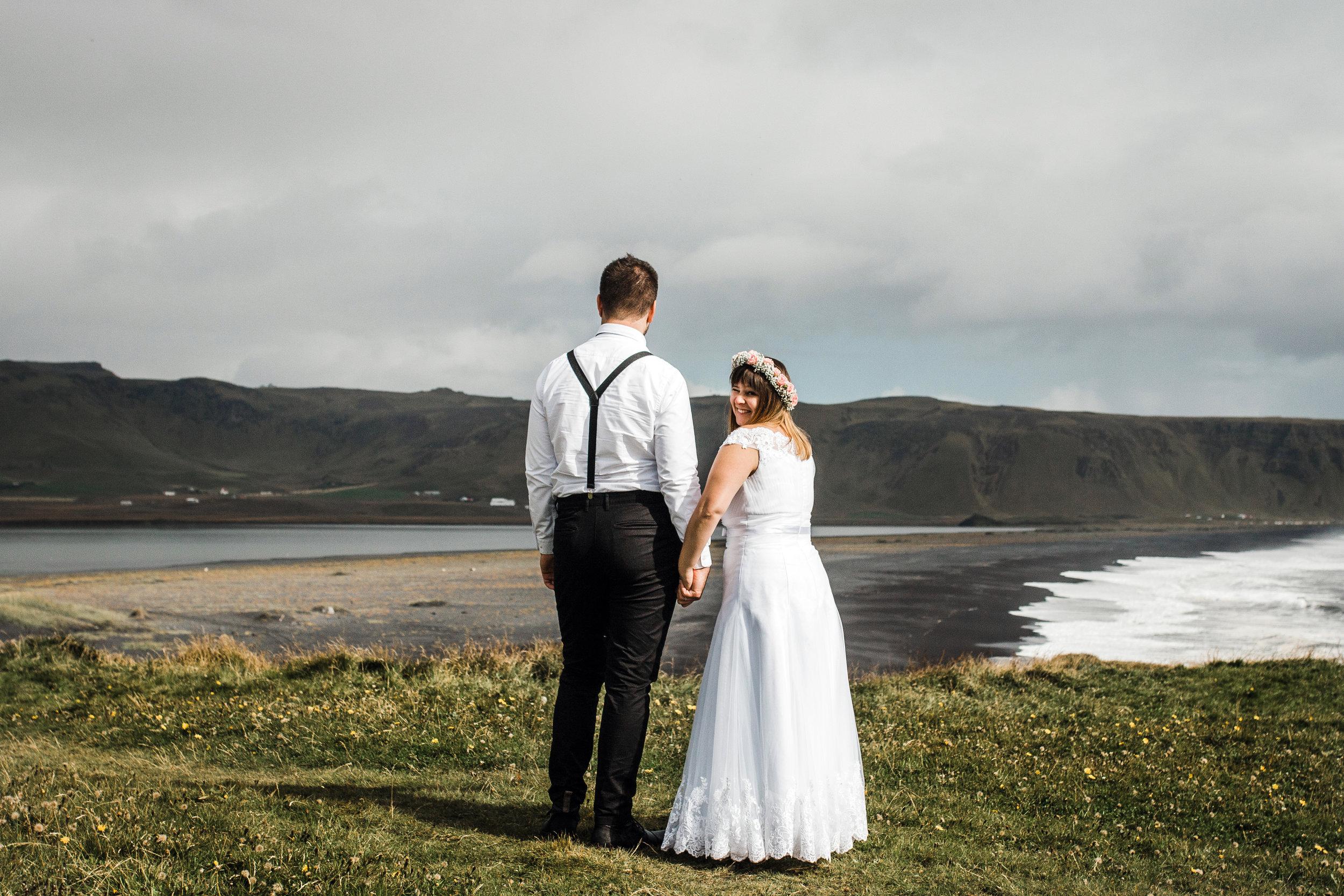 Icelandic elopement photography