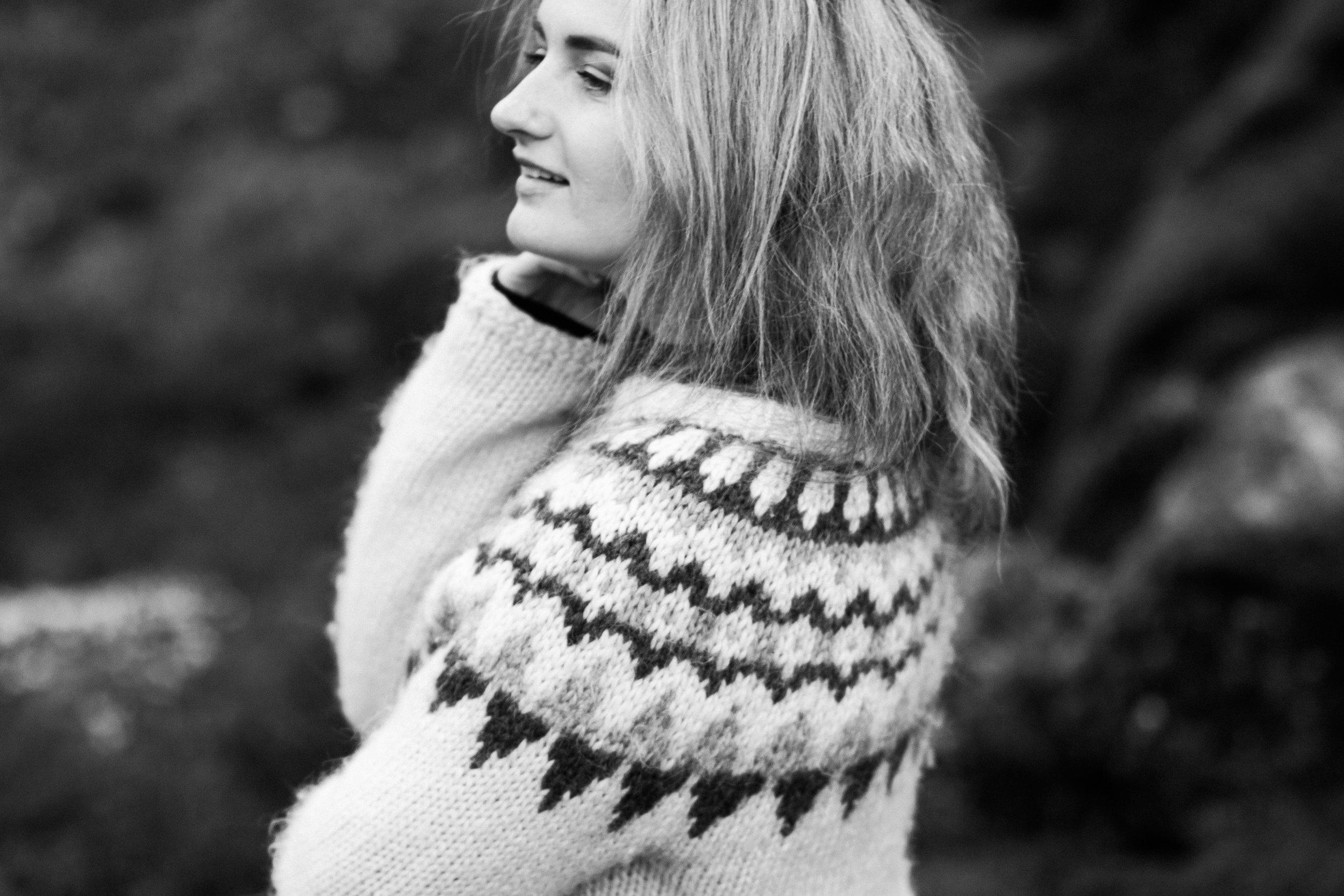 Solo traveller portrait shoot in Iceland
