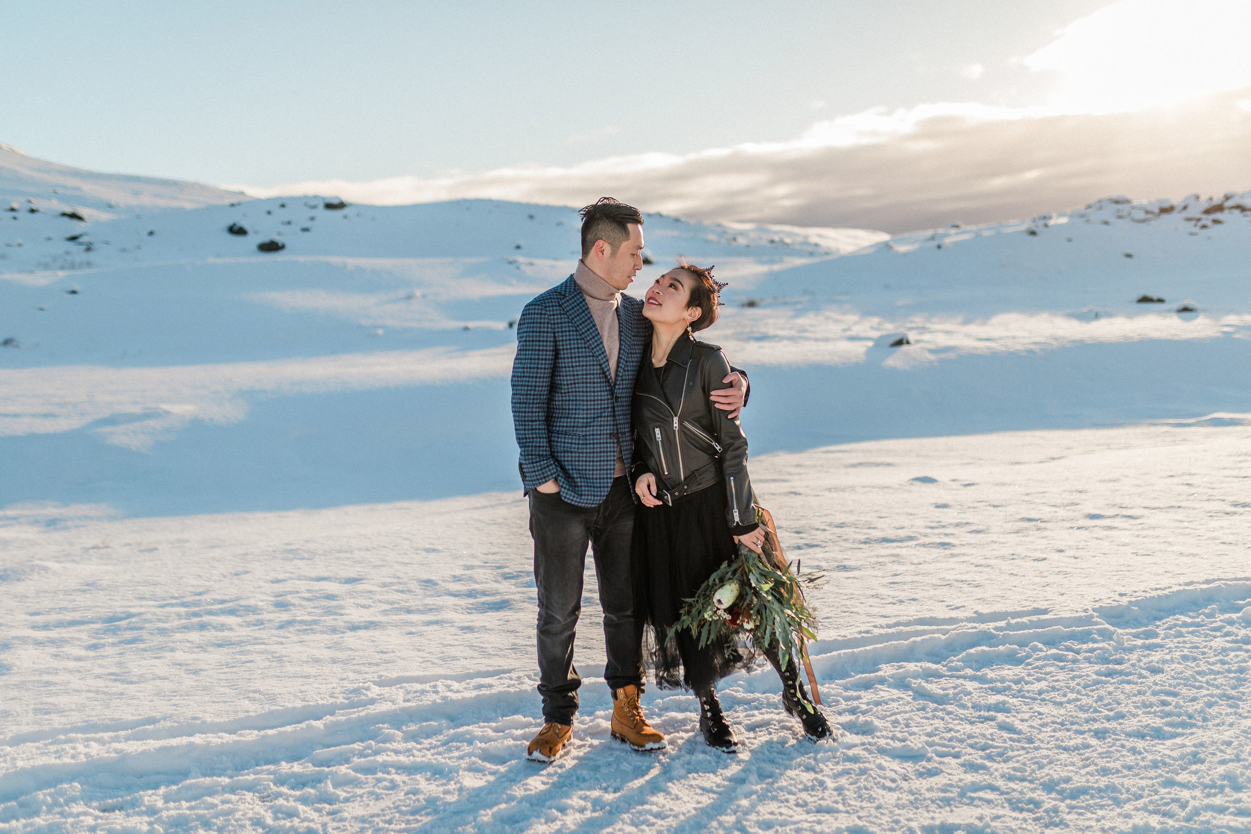 Iceland Elopement Photographer Waterfall Rainbow Skogafoss Seljalandsfoss