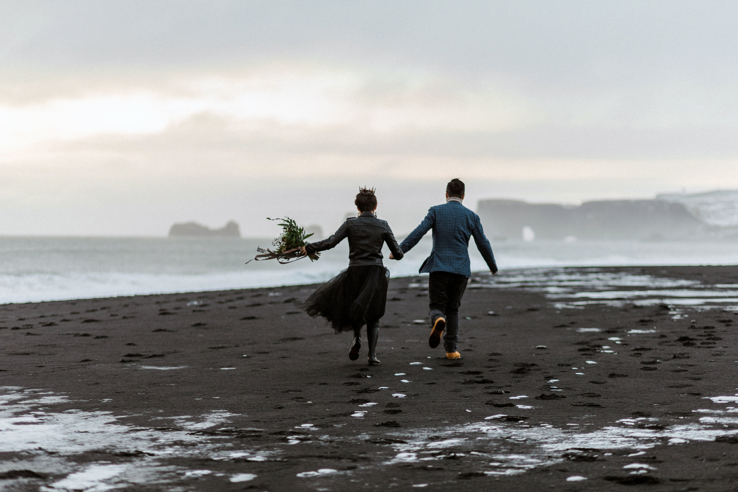 Best Destination Wedding Photographer Iceland Faroe Islands Greenland Scotland Black Sand Beach