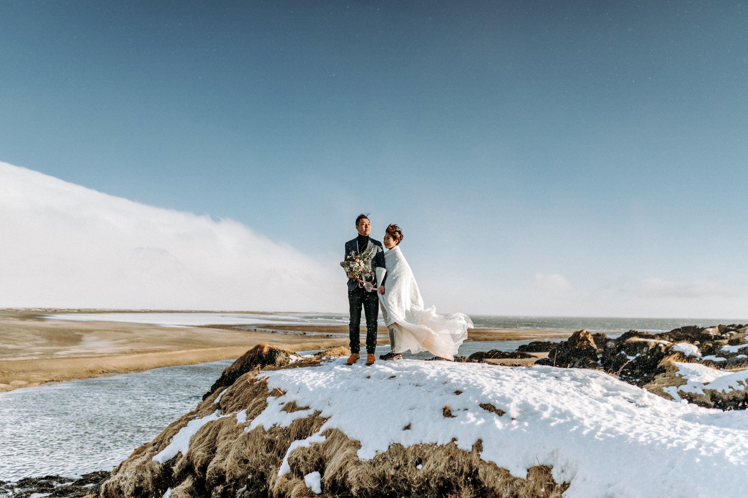 Iceland Elopement Photographer Búðir Wedding Black Church Snaefellsnes Peninsula bridal portrait