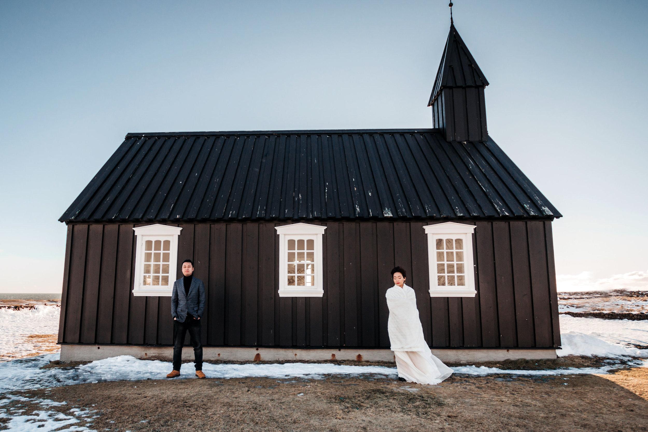 Iceland Elopement Photographer Búðir Black Church