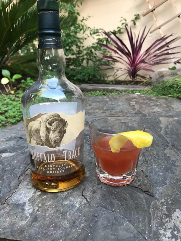 The Buffalo old fashioned  Fresh orange, a dash of sugar, Buffalo Trace, bitters and a few drops of cold water  $8