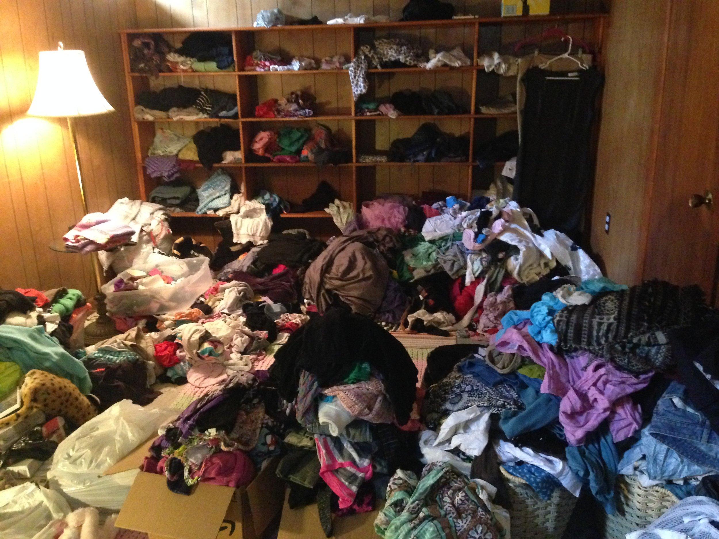 Before... A clothing stockpile.