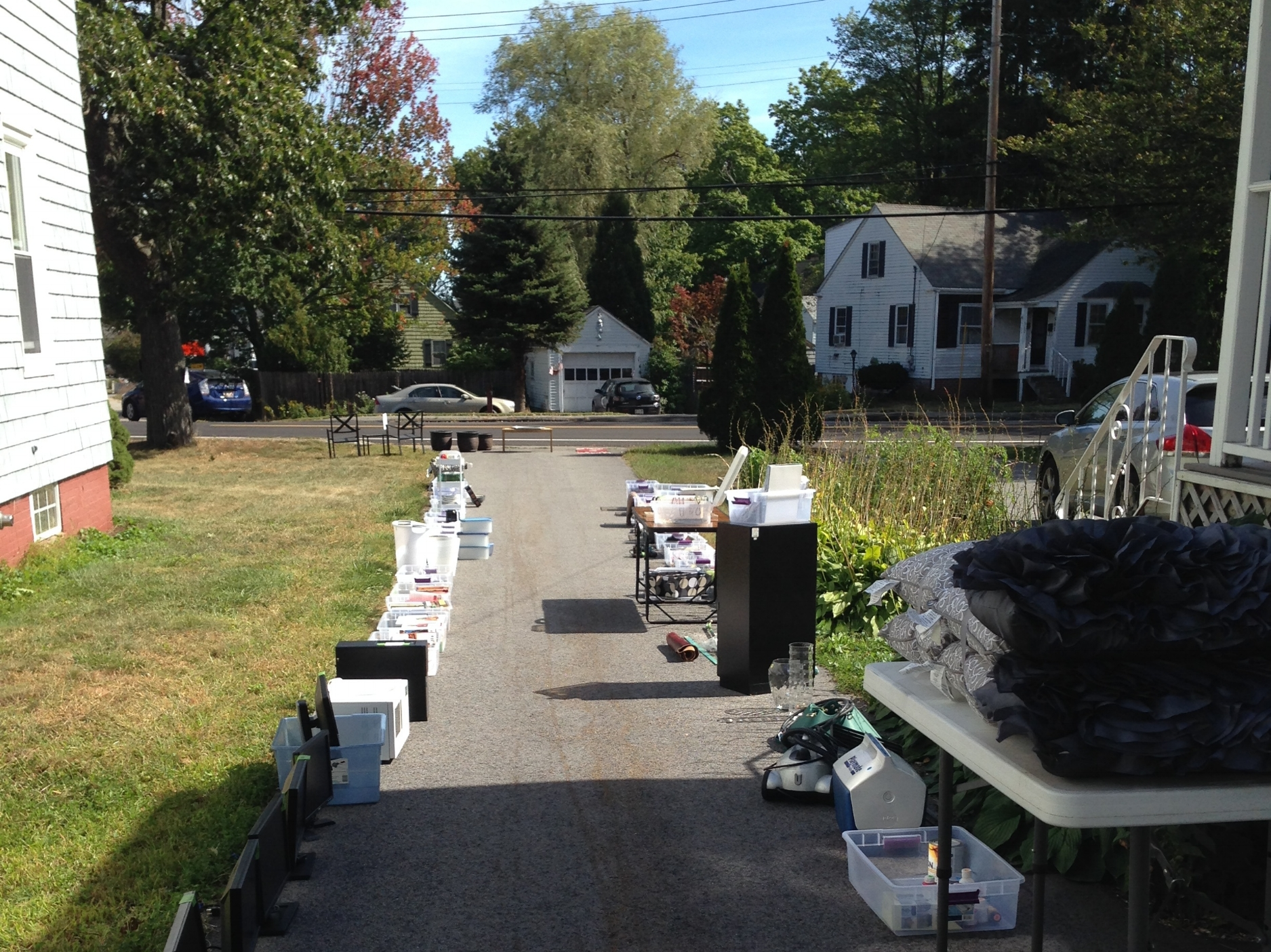 I stopped by to say hello on yard sale day! Next my client packs to move.