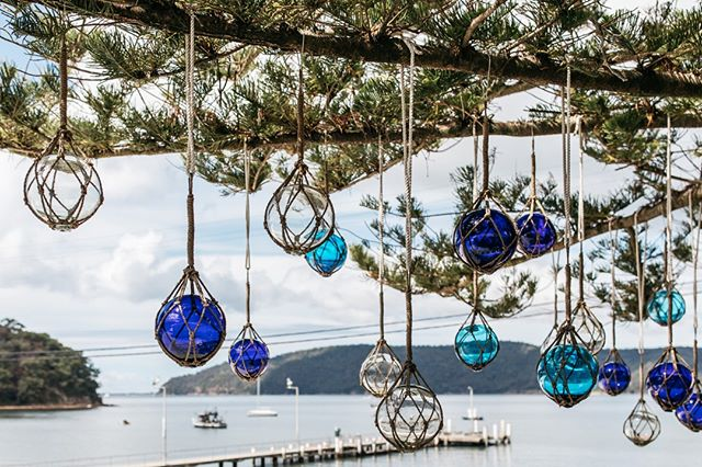 Glass buoys hanging above ⁠ #theboathousegroup #theboathousehotelpatonga #centralcoastnsw #watersidevenue #hotel