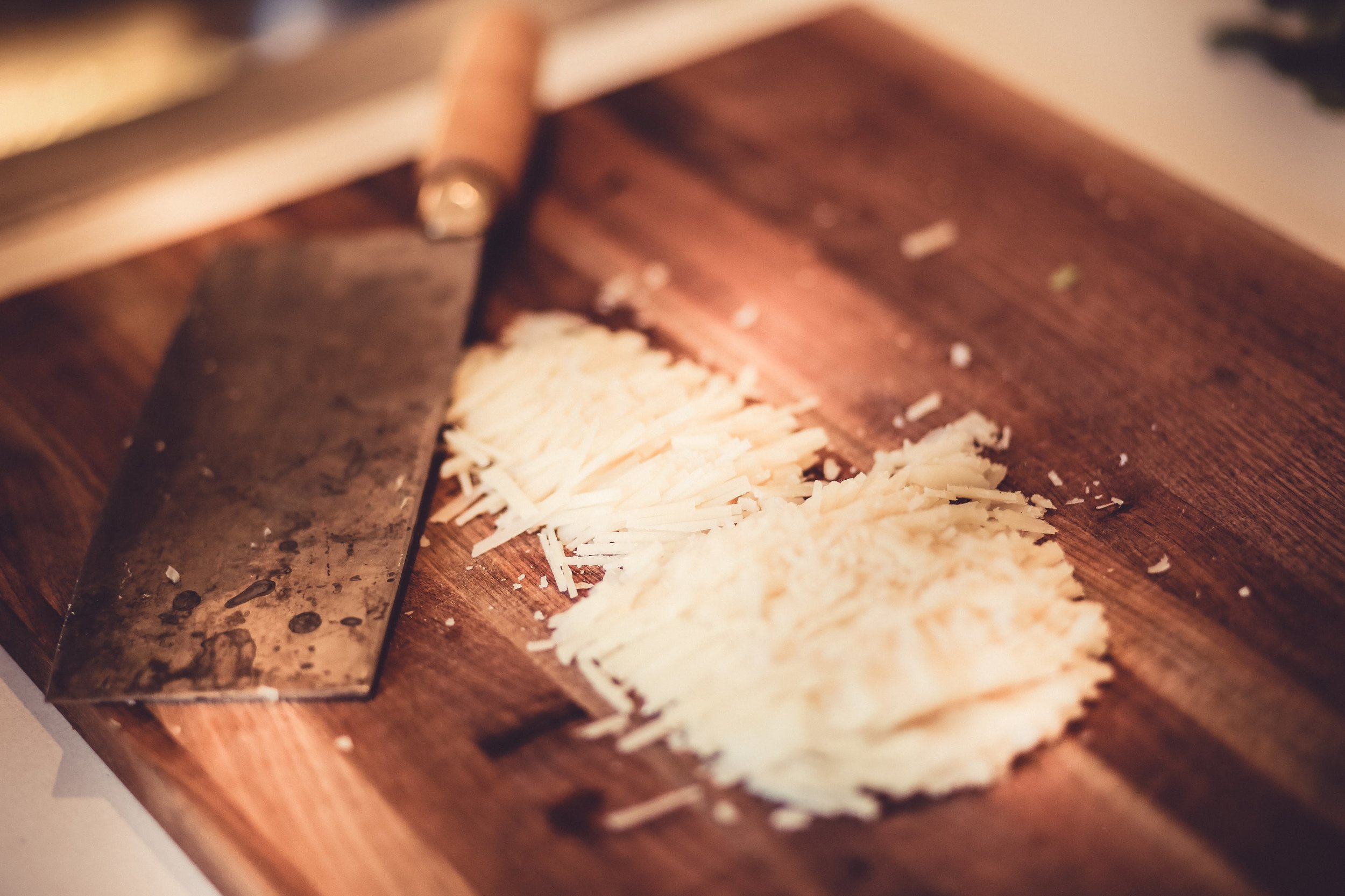 Some finely-chopped parmigiano!