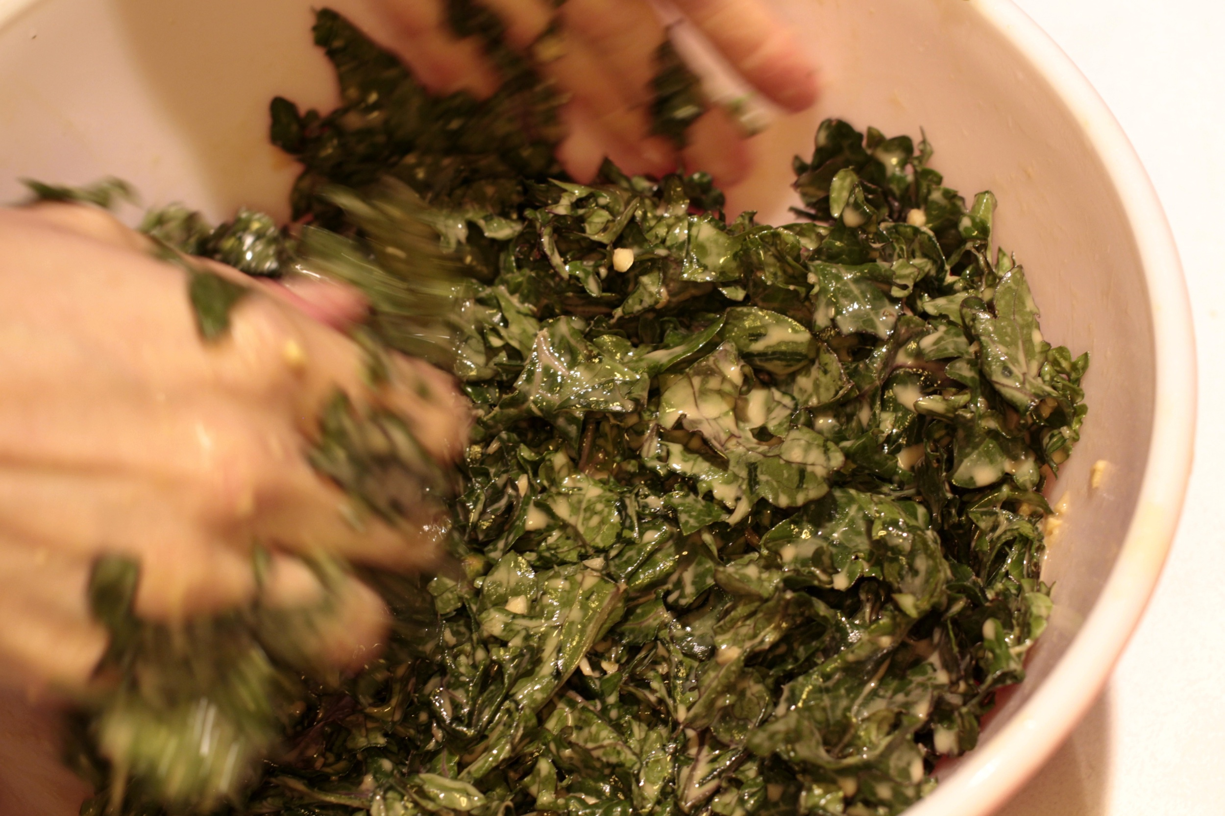 Massaging the Dressed-up Kale