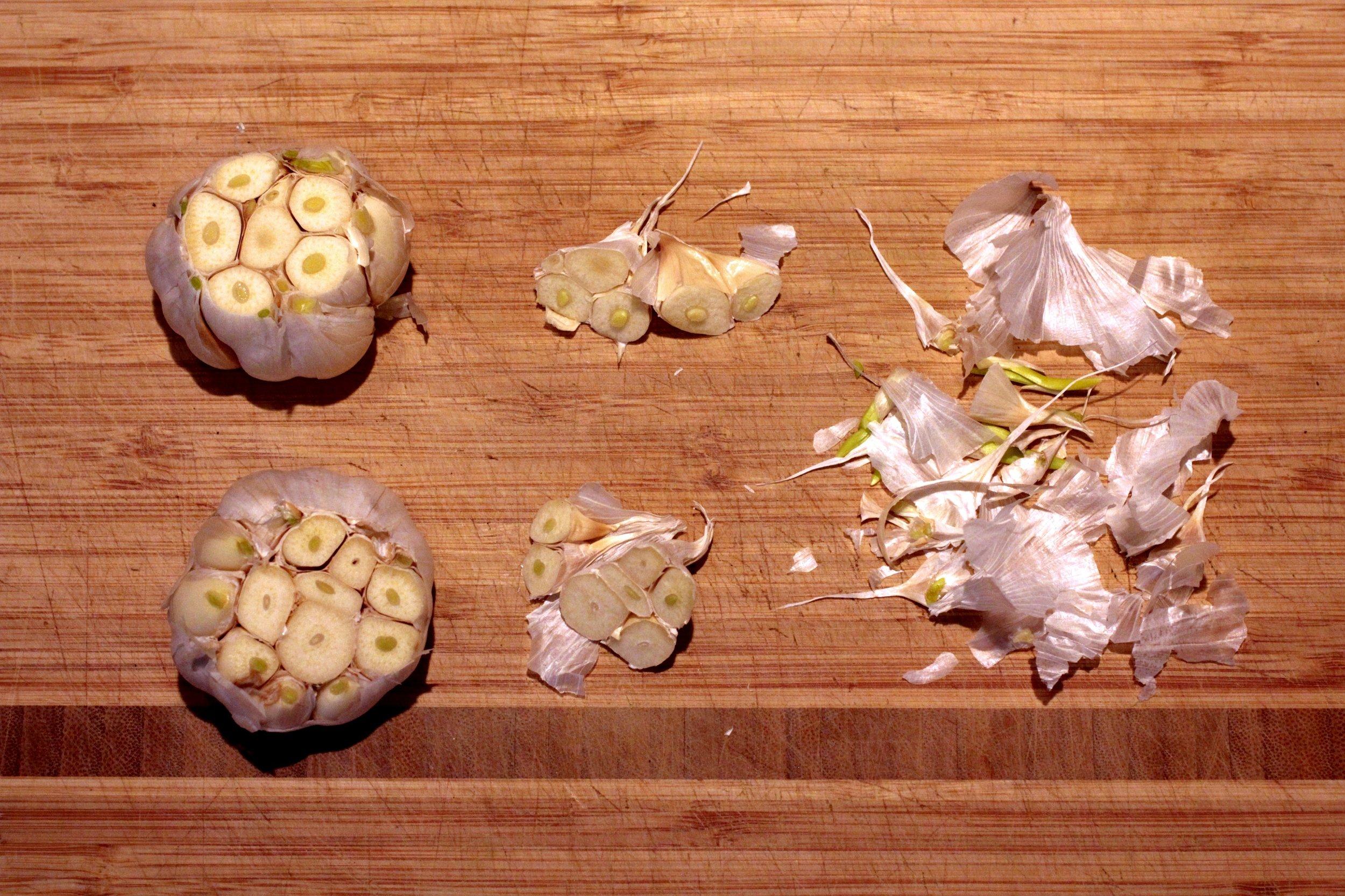 A garlic kiss, disassembled.