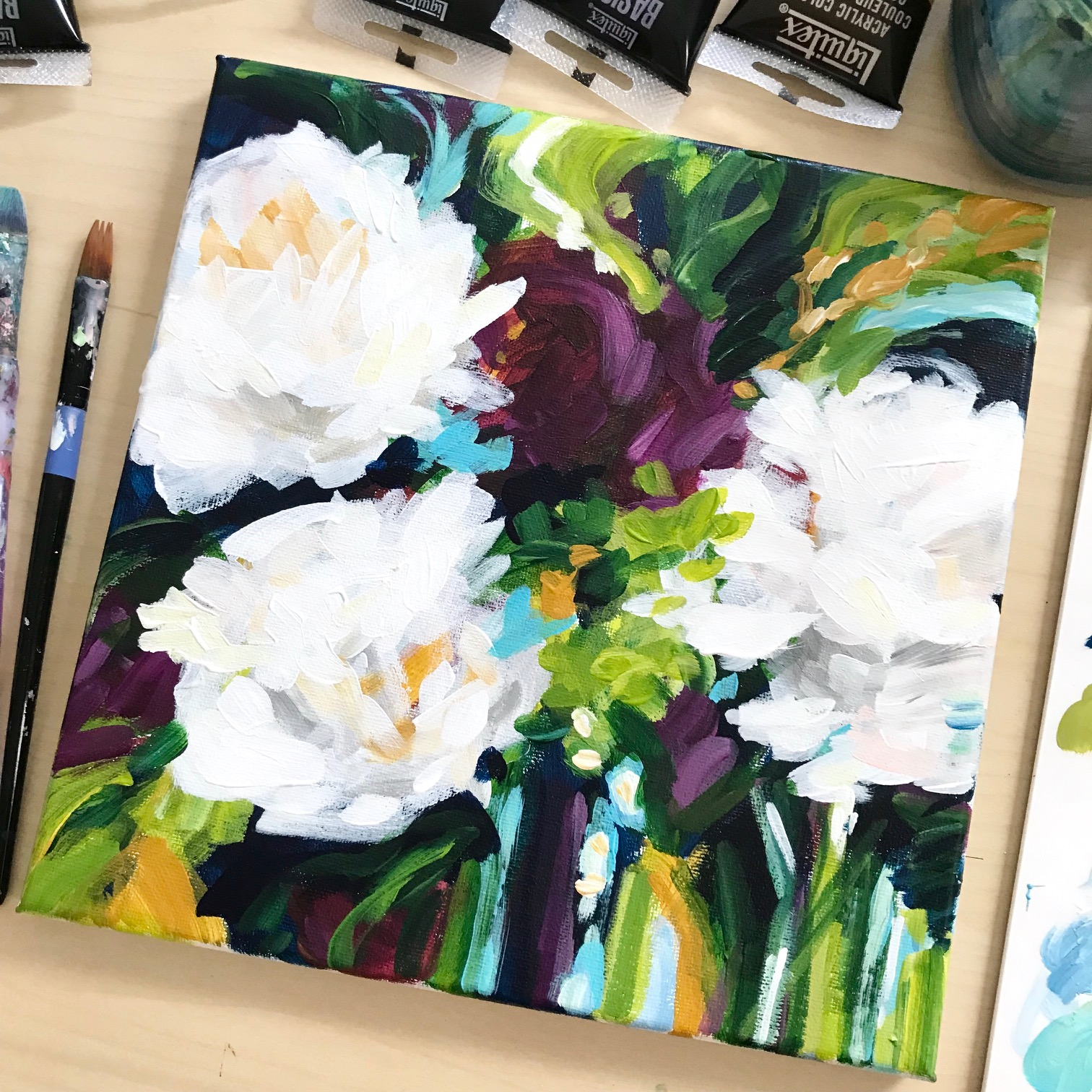 Learn to Paint Abstract Flowers!