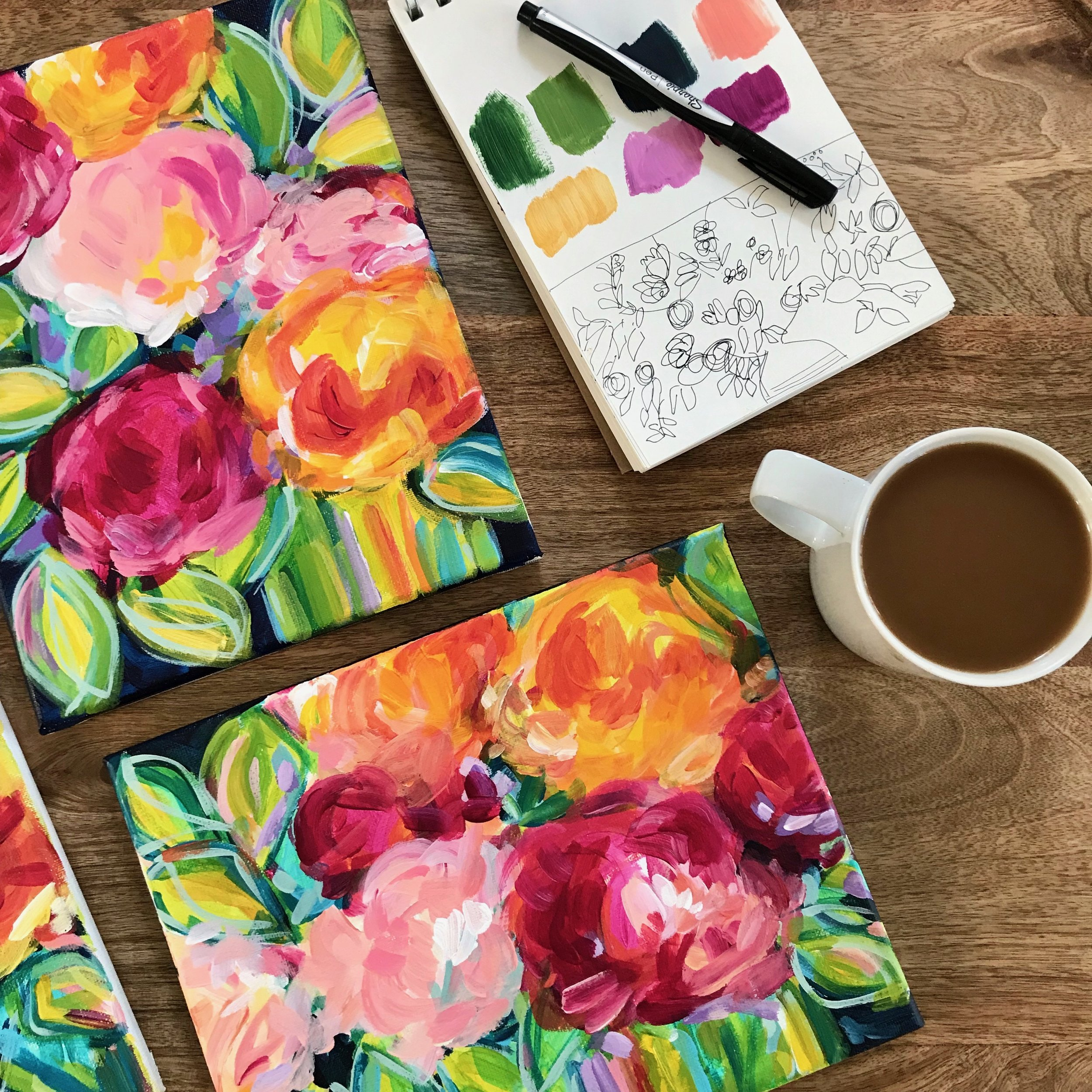 paint flowers how to elle byers.JPG