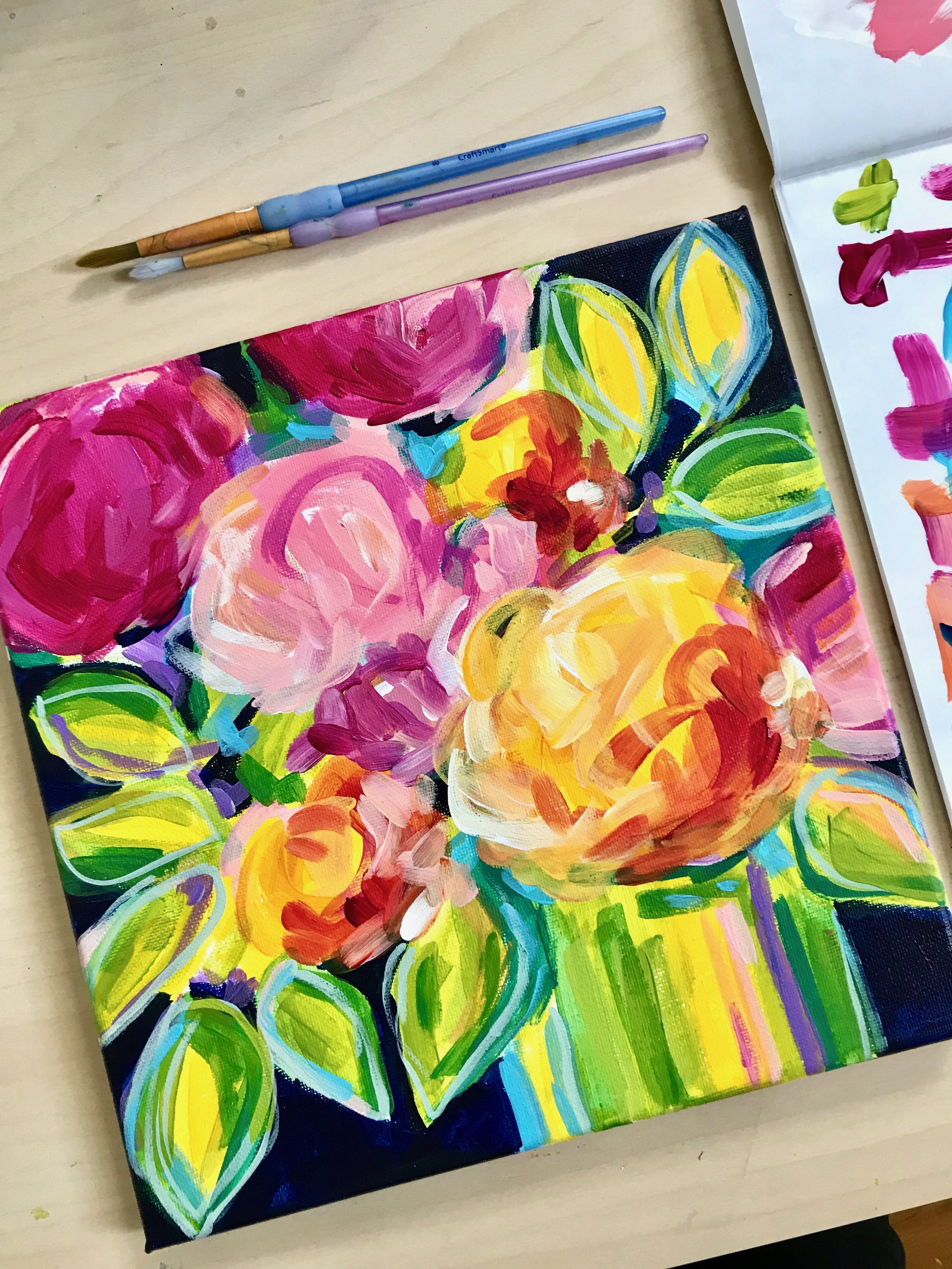 Learn How to Paint Abstract Flowers for Beginners!
