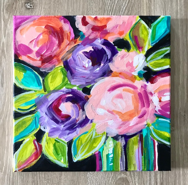 Learn how to paint abstract flowers!  Check out my art classes on Skillshare!  Link at the top of the page.