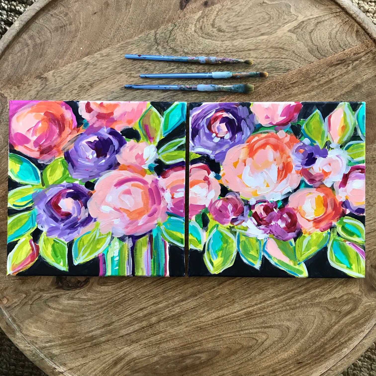 abstract flowers diptych elle byers.JPG