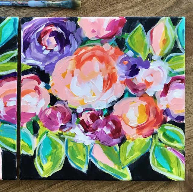 pink abstract flowers elle byers art.JPG