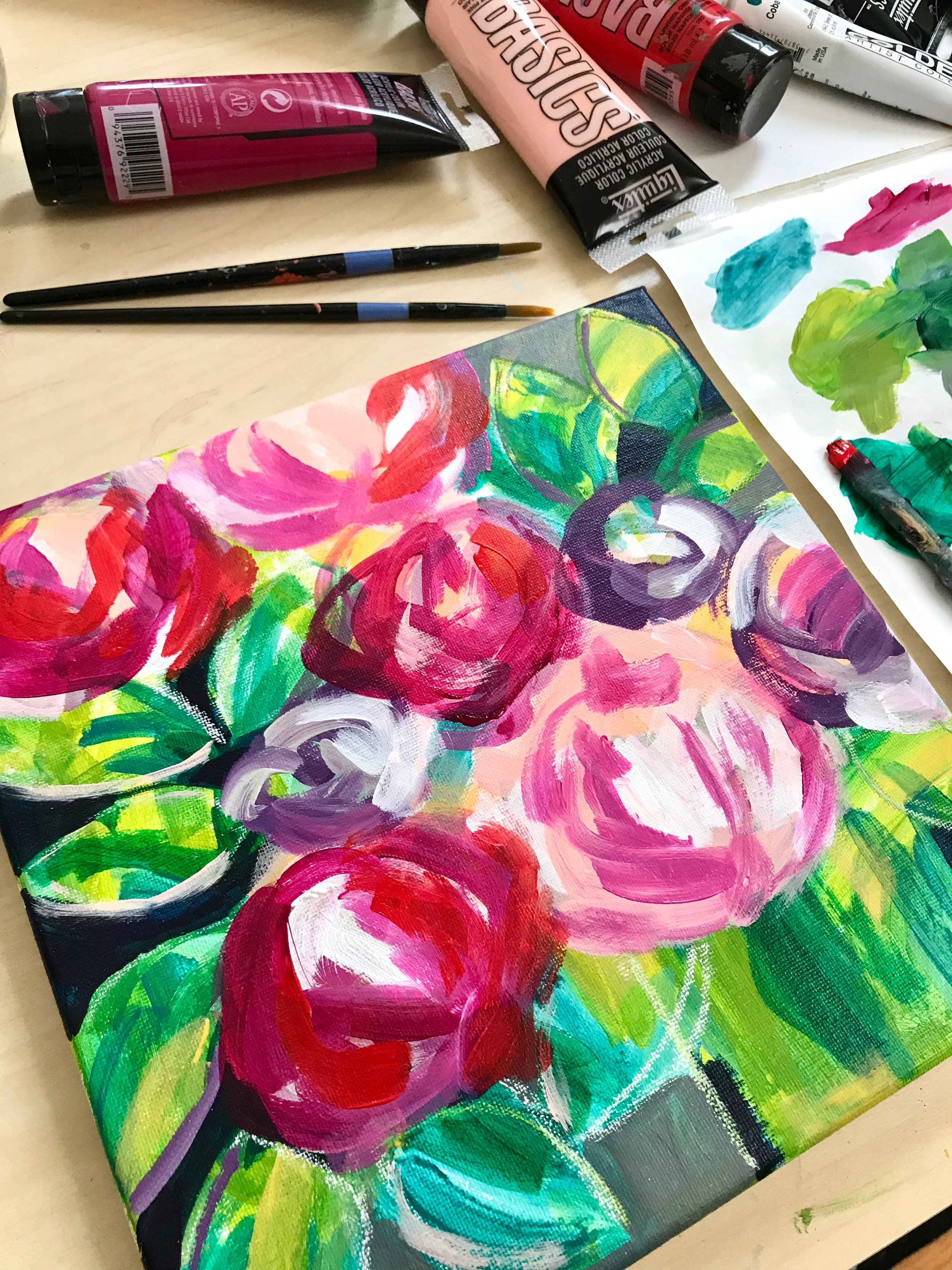 online class how to paint flowers acrylic 3739.JPG