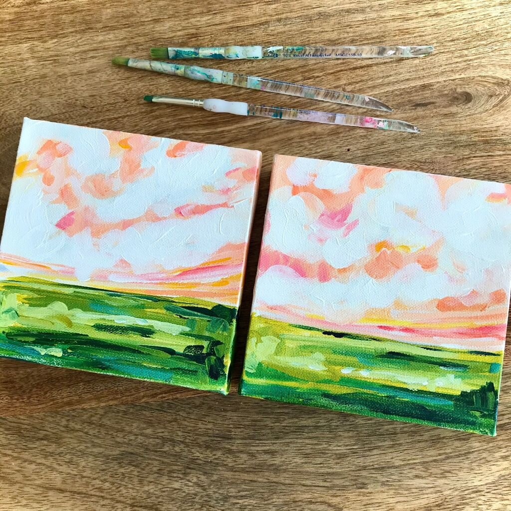 Easy Landscape Painting On Canvas With Acrylic Paint For Beginner Artists Elle Byers Art
