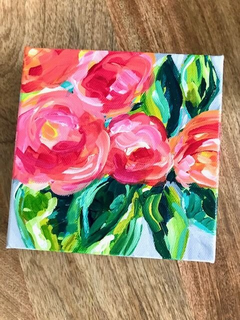 Flower Painting Acrylic Painting Tutorials And Original Artwork By Elle Byers Learn How To Paint With Acrylics On Canvas Elle Byers Art