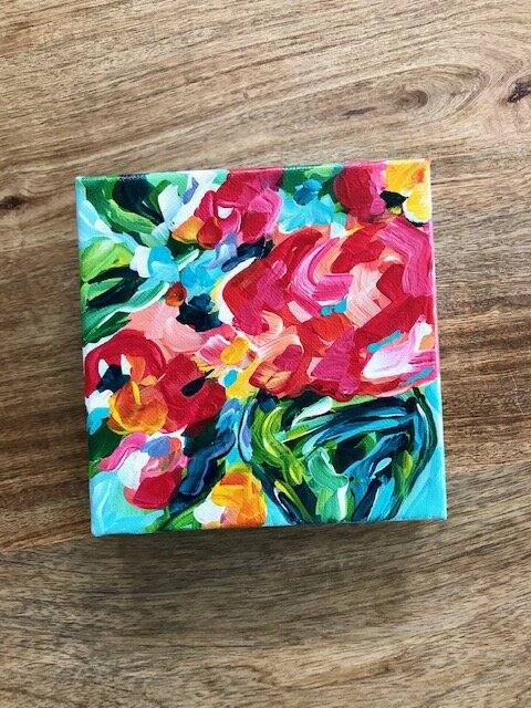 Abstract Flowers Acrylic Painting Tutorials And Original Artwork By Elle Byers Learn How To Paint With Acrylics On Canvas Elle Byers Art