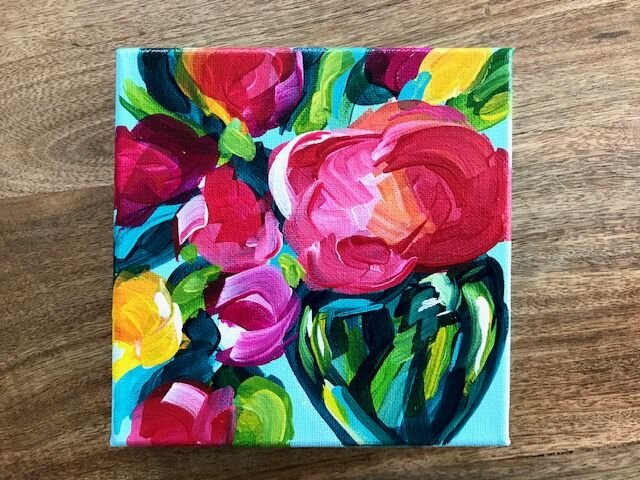 Painting Easy Abstract Flowers